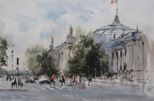 Paris Grand Palais  56x37cm